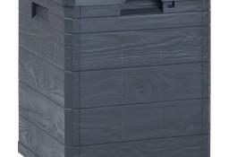 vidaXL Skrzynia ogrodowa, 90 L, antracytowa 45684