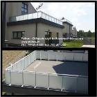 Oklejanie szyb balkonowych Warszawa- Folia Matowa zewnętrzna na balkon -Folkos Folie TEL. 790-028-159