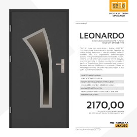 Drzwi wejściowe stalowe SETTO model LEONARDO PLUS