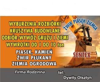 wywóz gruzu Olsztyn odbiór gruzu z Olsztyna uprzątnięcie gruzu