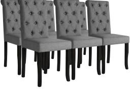vidaXL Krzesła stołowe, 6 szt., ciemnoszare, tkanina275151