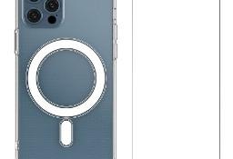 Etui Magnetic Case MagSafe do iPhone 12 , 12 Pro + szkło ochronne