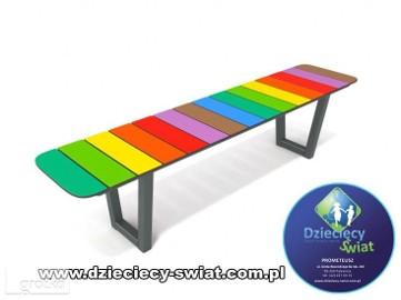 6034 ławka kolorowa plac zabaw