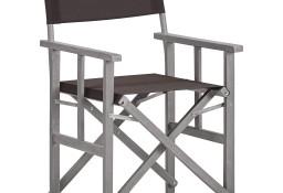 vidaXL Krzesło reżyserskie, lite drewno akacjowe 45954