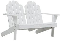 vidaXL Krzesło Adirondack, podwójne, drewniane, białe47228