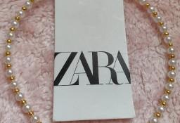 (S/M) ZARA/ Perłowo-złota opaska na głowę z Madrytu/ NOWA