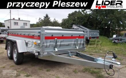 TM-063 przyczpa Prakti 2612/2, 263x125x46cm, lekka, towarowa, wysokie burty, DMC 750kg