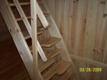 SCHODY KACZE na wysokość 280cm szer.70cm ażurowe młynarskie drewniane z BALUSTRADĄ BARIERKĄ sosna - PRODUCENT z ŁUKOWA