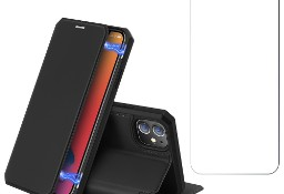 Etui Dux Ducis Skin X + szkło do iPhone 12 , 12 Pro czarny