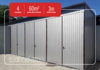 Garaż blaszany 10x6 hala stalowa magazyn blaszak akrylowy 4 stanowiska