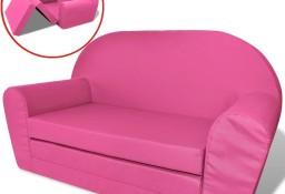 vidaXL Sofa amerykanka dziecięca różowa243258