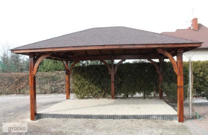 ALTANA Altanka Pergola Dach Wiata Zadaszenie Domek 4,9m x 3,7m