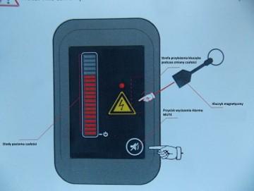sygnalizator czujnik napiecia maszyny budowlane