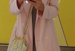 (38/M) H&M/ Różowy letni płaszcz, trencz biznesowy z Wiednia