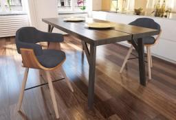 vidaXL Krzesła stołowe, 2 szt., ciemnoszare, gięte drewno i tkanina241687