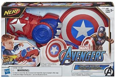 Nerf Kapitan Ameryka Avengers Tarcza Rękawica Wyrzutnia SHIELD SLING