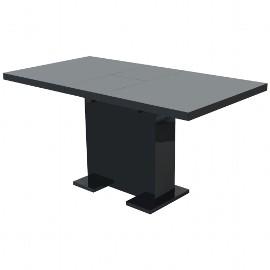 vidaXL Stół do jadalni rozkładany, lśniący czarny 243549