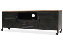 vidaXL Szafka pod telewizor, 120 x 30 x 43 cm, czarna245456