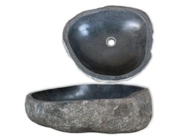 vidaXL Umywalka z kamienia rzecznego, owalna, 38-45 cm 242666