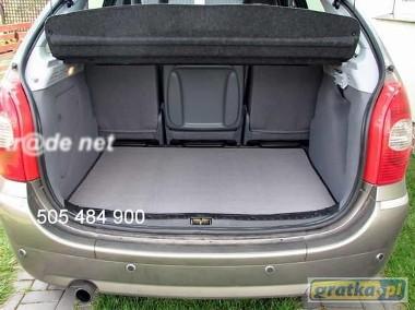 Renault Espace IV 7 osobowy- 3 rząd rozłożony od 2002 do 2015 r. najwyższej jakości bagażnikowa mata samochodowa z grubego weluru z gumą od spodu, dedykowana Renault Espace-1