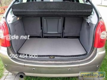 Renault Espace IV 7 osobowy- 3 rząd rozłożony od 2002 do 2015 r. najwyższej jakości bagażnikowa mata samochodowa z grubego weluru z gumą od spodu, dedykowana Renault Espace