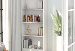 vidaXL 4-poziomowy regał na książki, biały, 60x24x142 cm 800873