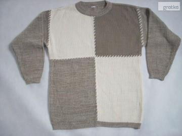 Dłuższy fajny sweter do dżinsów melanżM L