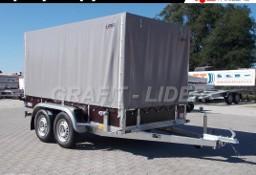 LT-017 przyczepa + plandeka 304x144x155cm, specjalistyczna, uniwersalna, do budowlanki, dla wypożyczalni, wzmacniana, DMC 750kg