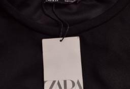 (36/S) ZARA/ Czarna, długa sukienka rozkloszowana z Madrytu/ NOWA