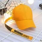 Żółta Czapka Bejsbolówka Cotton Personality Trend z Paskiem