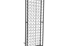 vidaXL Metalowy stojak na 108 butelek wina 241598
