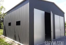 Garaż blaszany dwuspadowy magazyn hala 8x8m wysokość 5m