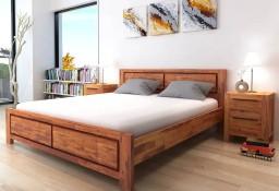 vidaXL Rama łóżka, brązowa, lite drewno akacjowe, 180x200 cm 244339