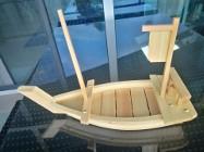 sushi półmisek łódka drewno drewniany talerz