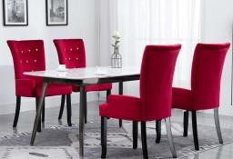 vidaXL Krzesła stołowe z podłokietnikami, 4 szt., czerwone, aksamitne276921