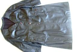 Płaszcz skórzany damski jednorzędowy na tęższą osobę