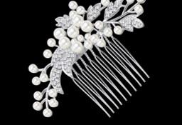 Nowa ozdoba do włosów wsuwka wianek ślub wesele panna młoda perły cyrkonie