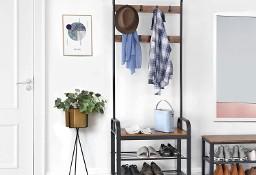 Wieszak do przedpokoju, garderoba industrialna, loft, ławka, półki