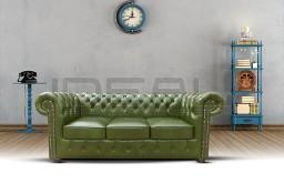 Pikowana Sofa Chesterfield Classic 3 XL skóra, glamor