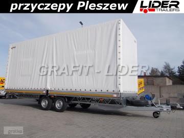 LT-077 przyczepa + plandeka 660x220x260cm, spedycyjna przyczepa ciężarowa, towarowa, 2 osiowa, DMC 3500kg