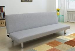 vidaXL Sofa rozkładana, jasnoszara, poliester 241656
