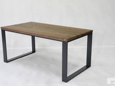 stół/biurko Enzo blat dąb, szczotkowany, olejowany, nogi stalowe-1