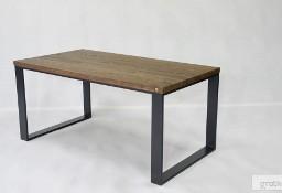 stół/biurko Enzo blat dąb, szczotkowany, olejowany, nogi stalowe