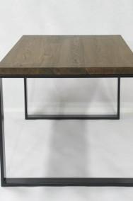 stół/biurko Enzo blat dąb, szczotkowany, olejowany, nogi stalowe-2