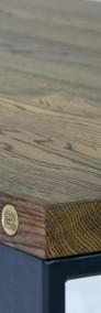 stół/biurko Enzo blat dąb, szczotkowany, olejowany, nogi stalowe-4