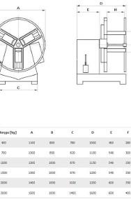 Odwijak-nawijak-rozwijak z napędem do taśmy stalowej SPM3000-2