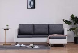 vidaXL 3-osobowa sofa z poduszkami, biała, sztuczna skóra282203