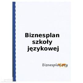 Biznesplan szkoły językowej