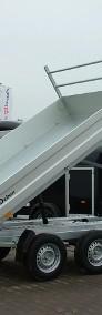 Przyczepa wywrotka hydrauliczna marki Debon Cheval Liberte Przyczepa trójstronna Przyczepa z burtami aluminiowymi-3