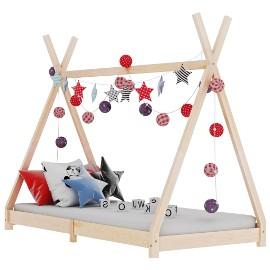 vidaXL Rama łóżka dziecięcego, lite drewno sosnowe, 90 x 200 cm 283357